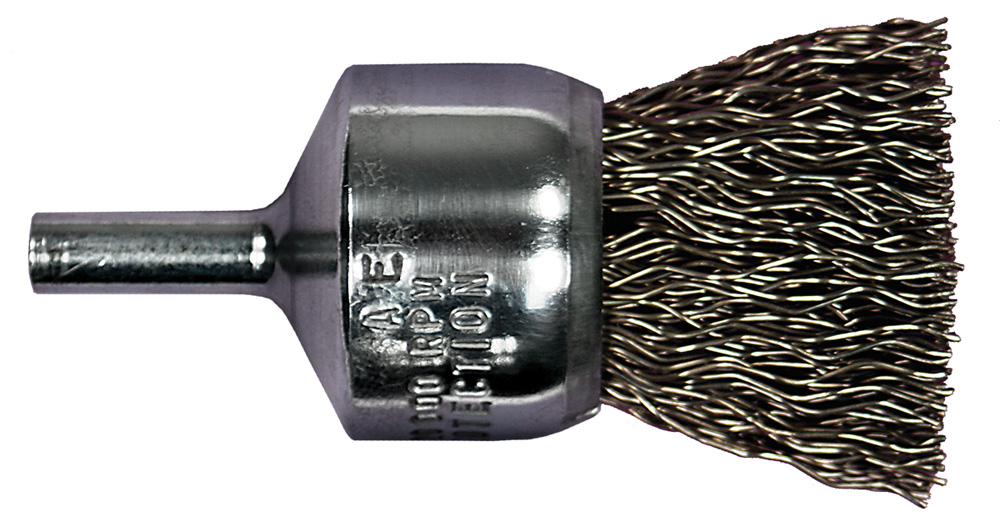 "1/"" End Crimp 014 Wire Brush"